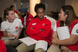 City year Boston staff members talking