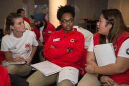 City year Boston staff members talking