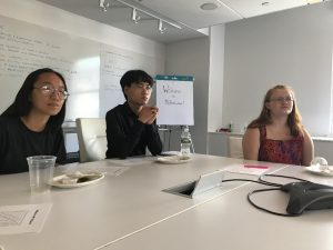 Teen summer interns hear from MullenLowe employees in their downtown office