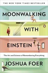 Moonwalking with Einstein by Joshua Foer, book front cover