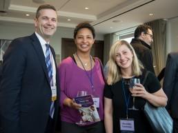 Jim Tierney with Danielle Allen and Meredith Goldstein