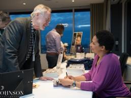 Danielle Allen signing books
