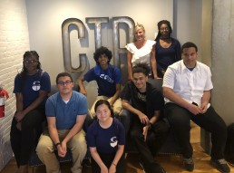 Students posing at CTP marketing agency