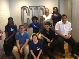 Students posing at CTP marketing agency
