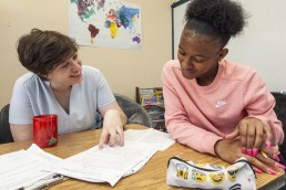 Writing Centers Tutor with Student
