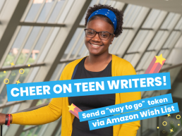 cheer on teen writers with image of smiling student