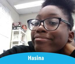 Hasina smiling