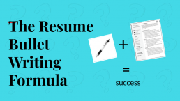 Power Point Slide: The Resume bullet writing formula