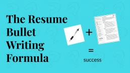 Power Point Slide: The Resume bullet writing formula