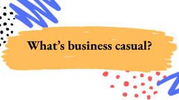 image of Power Point slide: What's business casual?