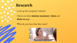 Image of Power Point slid: conduct research