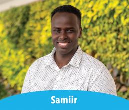 Samiir smiling student