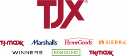 TJX logo with sub-brands listed beneath
